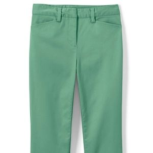 Lands' End Mid Rise Green Chino Crop Pants NWT!